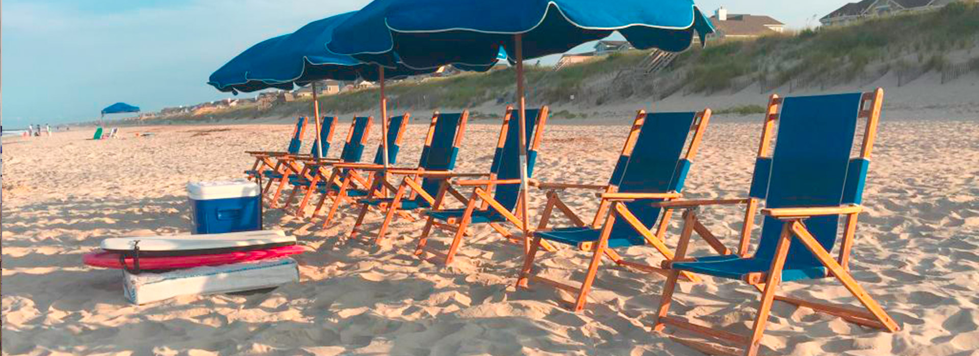 obx chairs and umbrellas